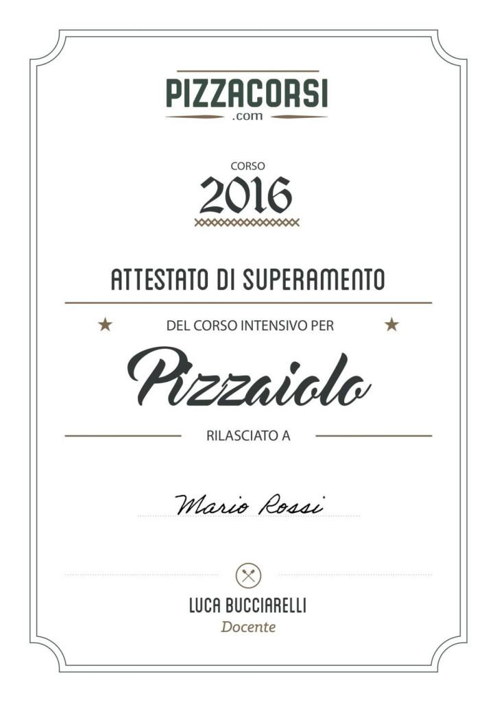 Attestato Corso Pizzaiolo Online